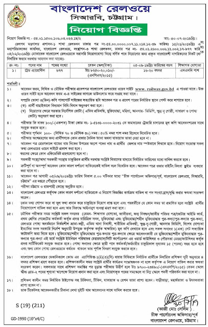 Bangladesh Railway Job Circular 2019 Image