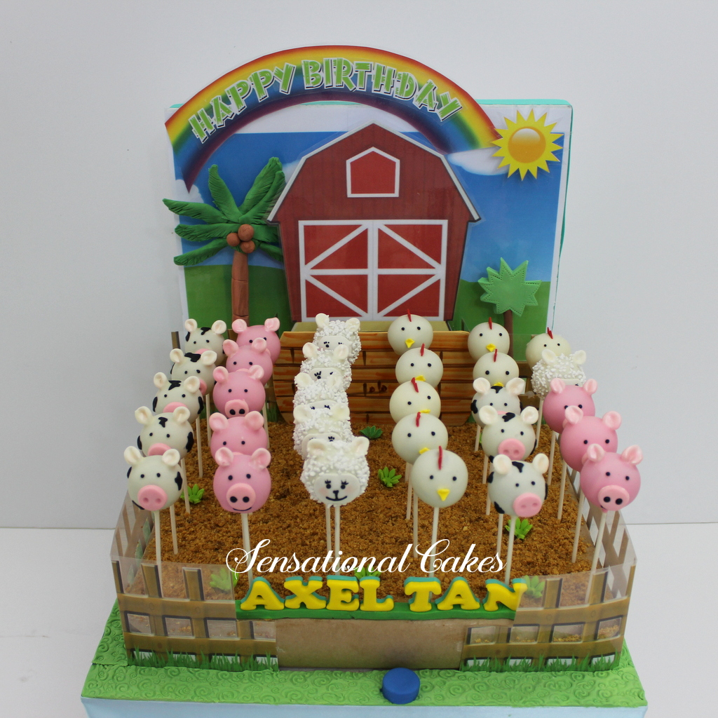 the sensational cakes barnyard cake pops set piggy moo cow lamp chicken cake pop sets with. Black Bedroom Furniture Sets. Home Design Ideas