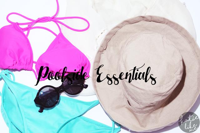 summer, poolside essentials