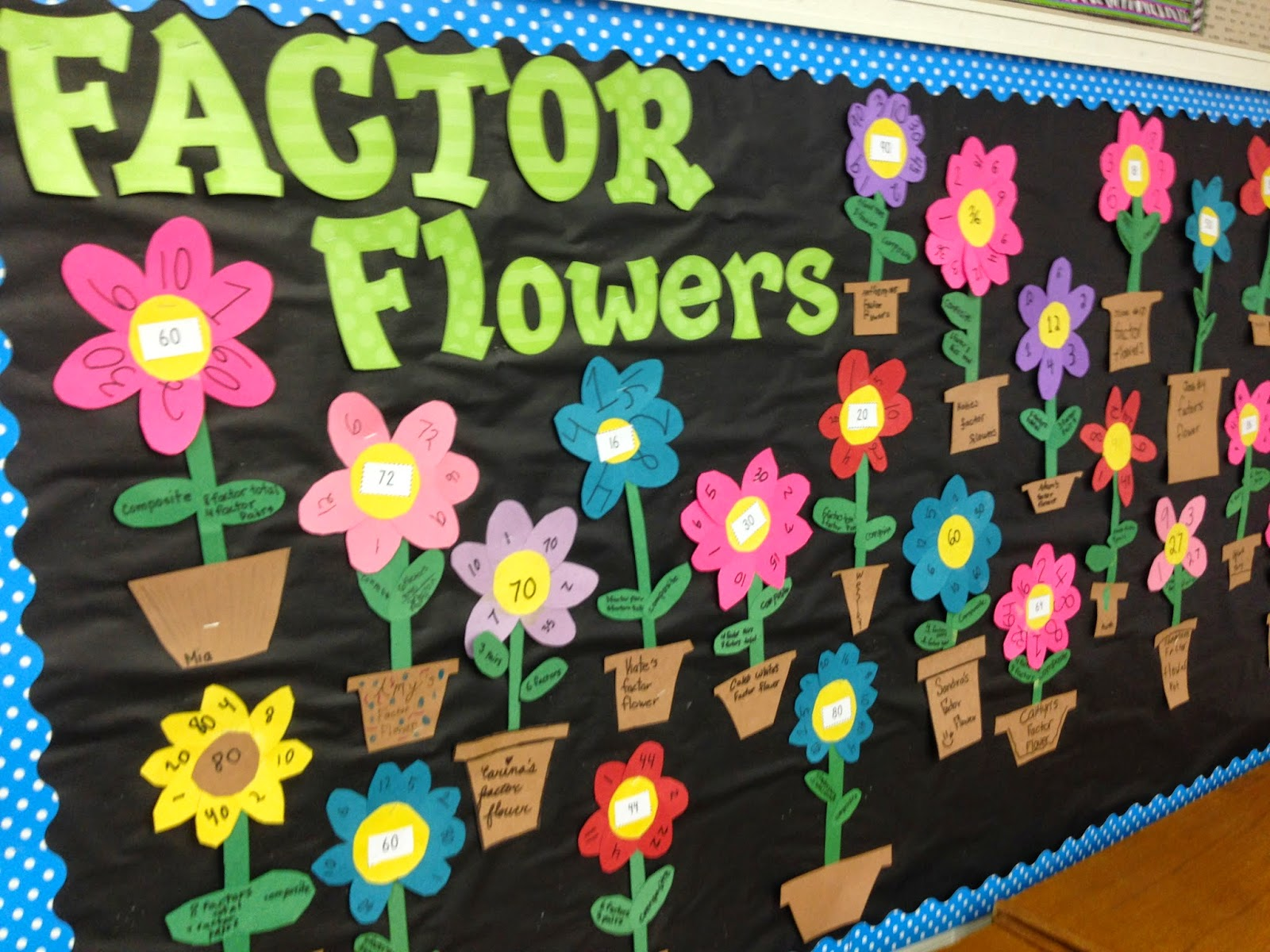 Factor Flower Craftivity