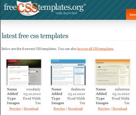 分享2U日誌: Free CSS Templates - 免費 CSS 網站模版