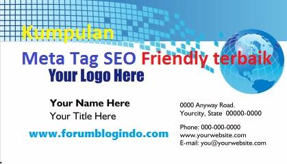 Daftar Meta Tag SEO Friendly Blog Terbaik Terpopuler di Dunia