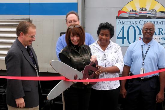Amtrak 40th Anniversary, Exhibit Train