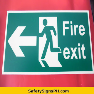 Glow in the Dark Fire Exit Signage