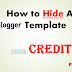 How to Permanently Remove the Footer Credits of any Blogger Template