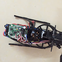 Wltoys V950 Brushless Rc Helicopter Tail motor Top View internals