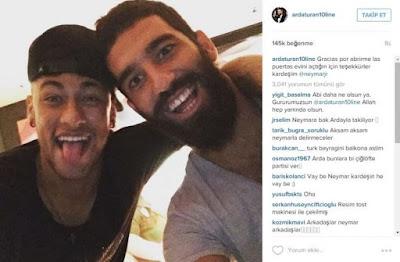 Turan và Neymar là 2 cầu thủ bị phạt của Barca mùa này