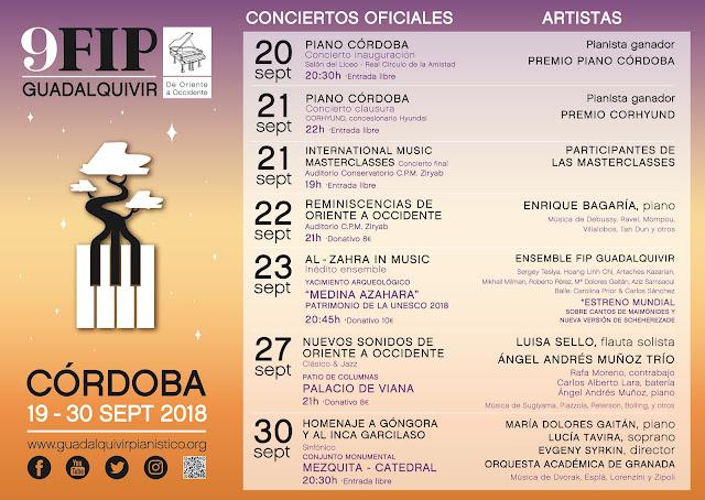 "9º FESTIVAL INTERNACIONAL DE PIANO ""Guadalquvir"""