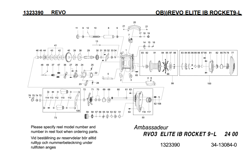 abu garcia revo elite IB series schematics | most complete ... on