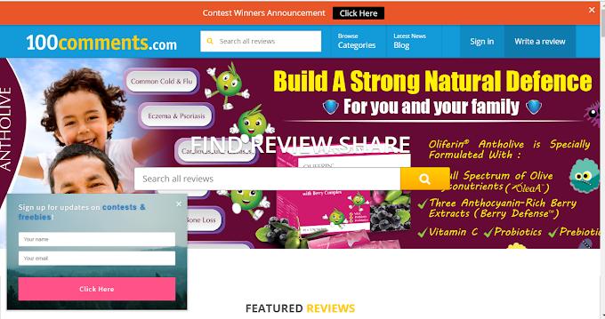 Ulasan Produk, Sampel Percuma, Produk Baru, Promosi & Tips hanya di 100Comment.com