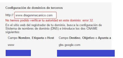 Dominio personalizado en Blogger - Tutorial Blogger