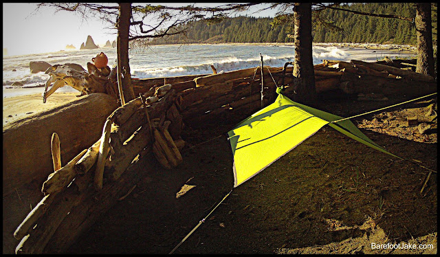 sea to summit ultra sil nano tarp poncho test