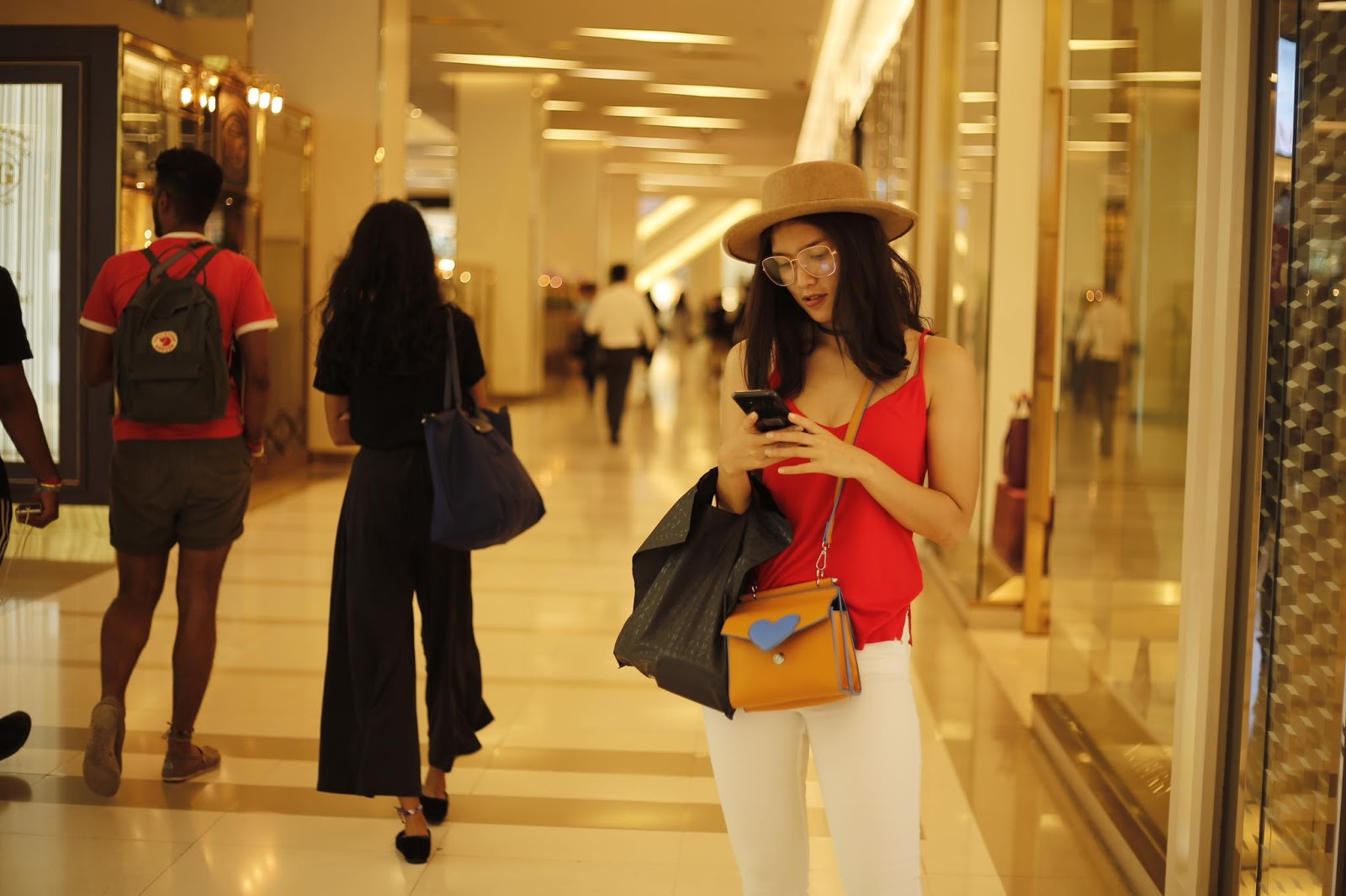 Aye Myat Thu Shopping Time Snaps In Bangkok Shopping Malls