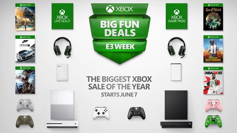Microsoft E3 Sale Discounts Xbox One X and Popular Games