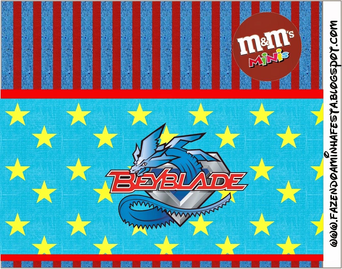 Etiqueta M&M para Imprimir Gratis de Beyblade.