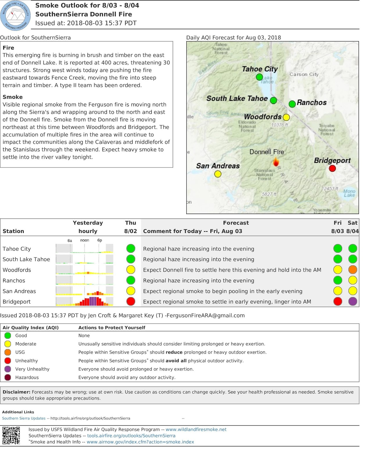 friday 8 03 2018 donnellfire air quality outlook
