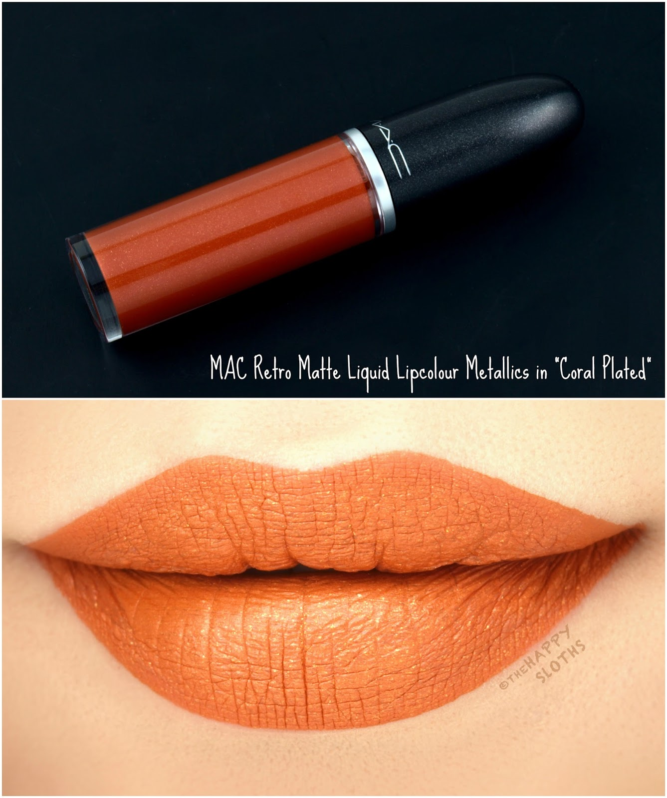 "MAC Retro Matte Liquid Lipcolor Metallics in ""Coral Plated"": Review and Swatches"