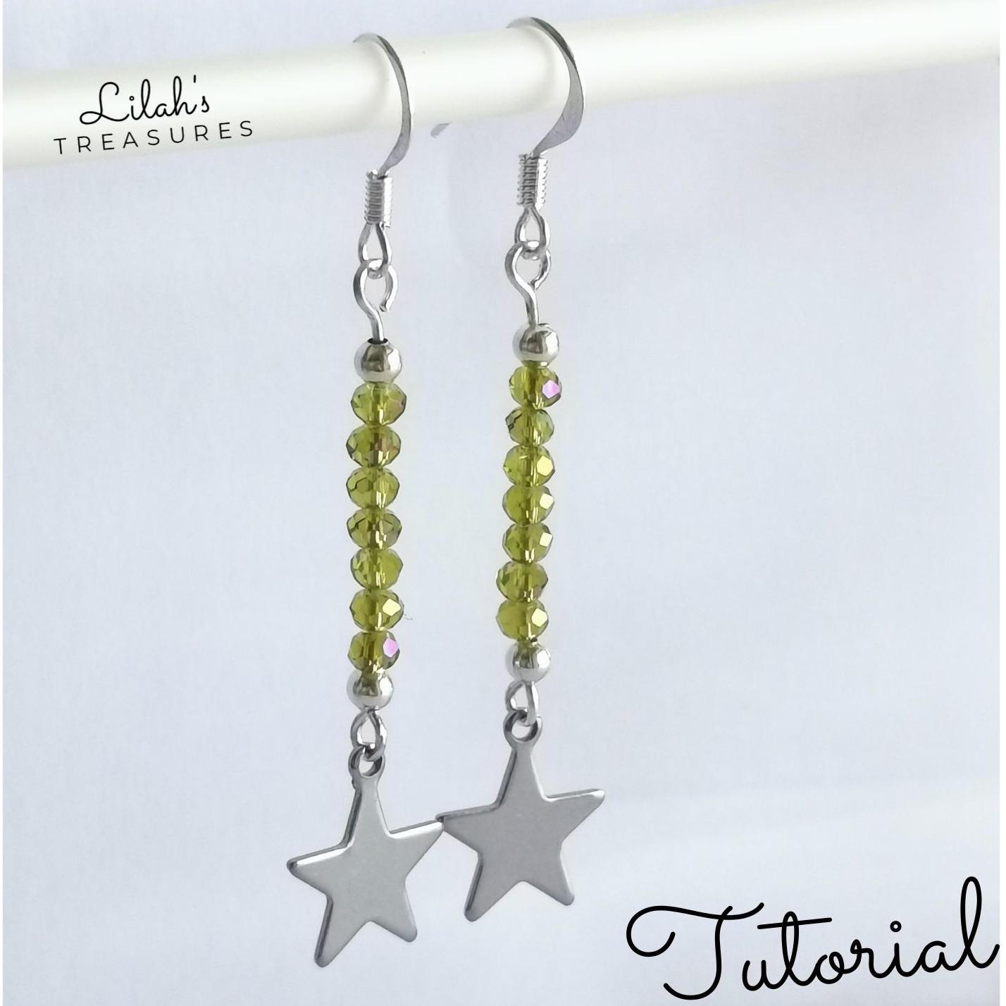 eyepin pendant earrings tutorial