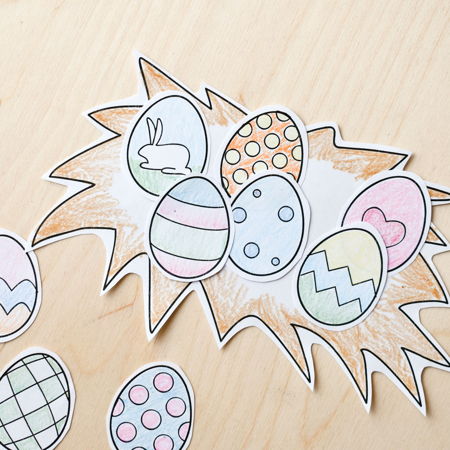 easter egg designs, bunny coloring