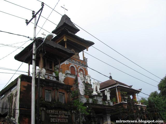 Католический храм в Денпасаре, Бали