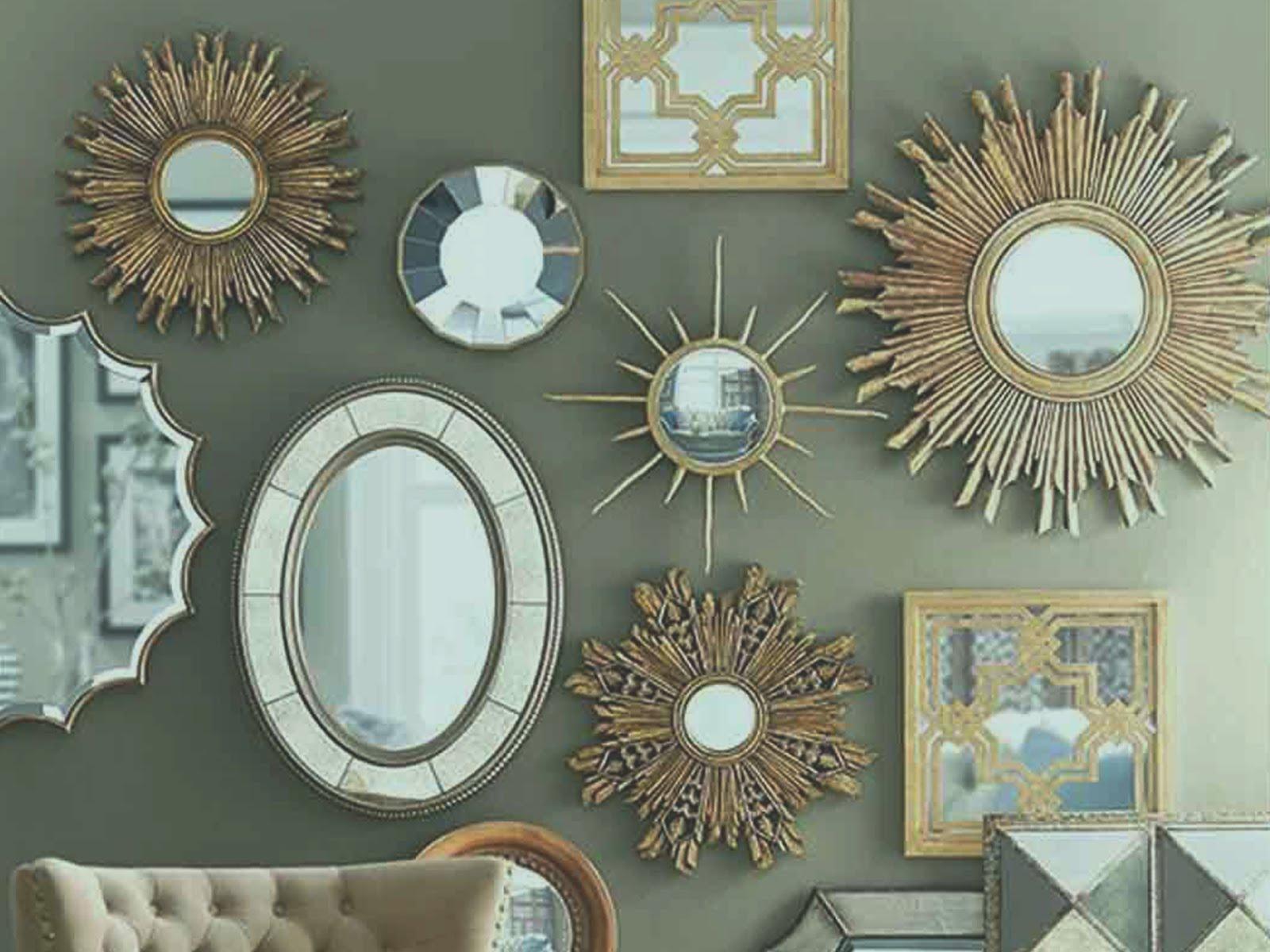 Wall Frame Mirror Wood