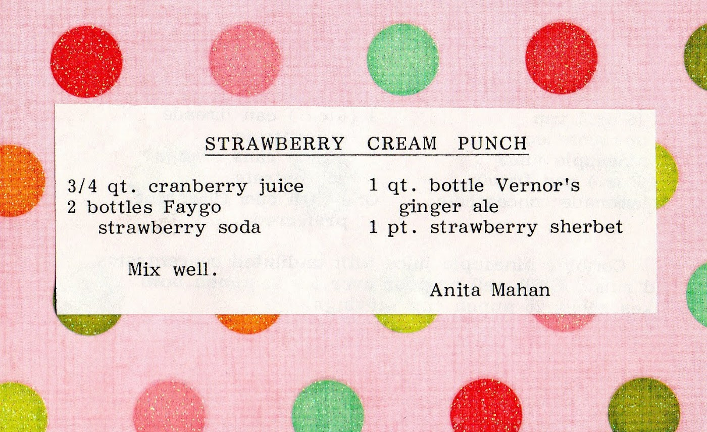 Strawberry Cream Punch (quick recipe)