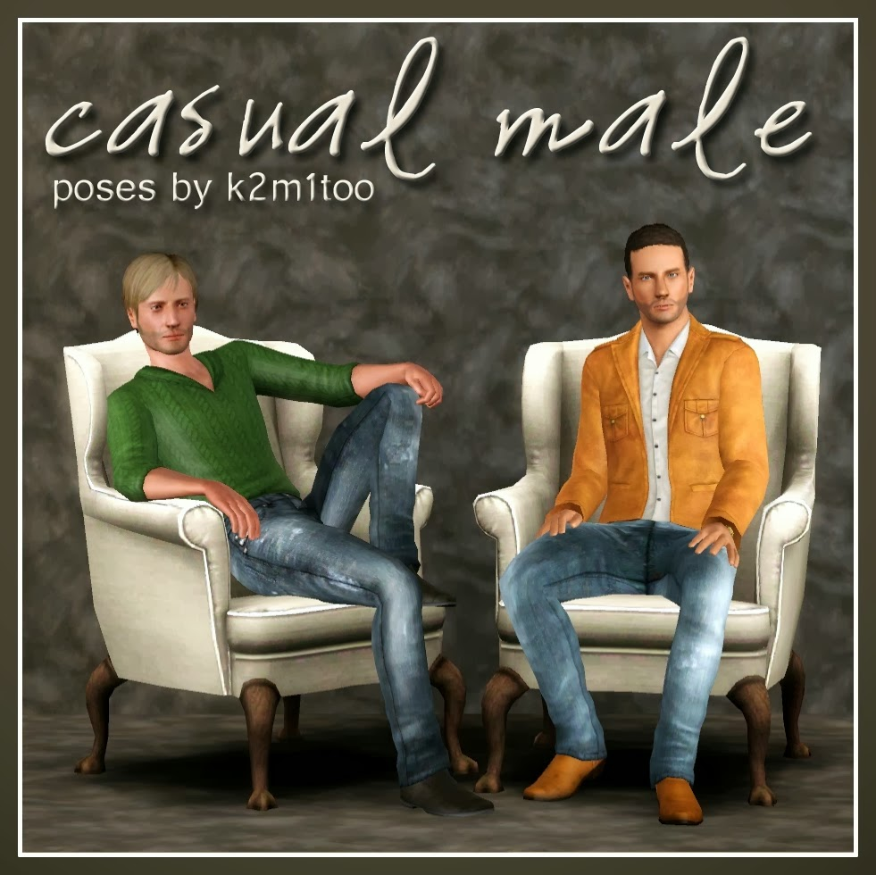 My Sims 3 Blog: Casual Male Poses By K2m1too (K2