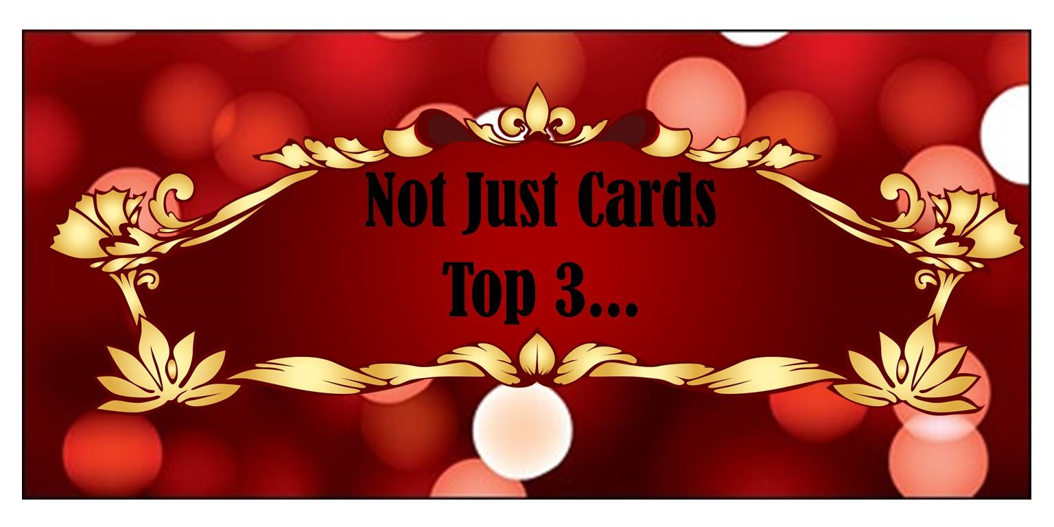 4 x Not Just Cards Top 3