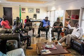 AAUA student leaders in meeting with Governor Akeredolu