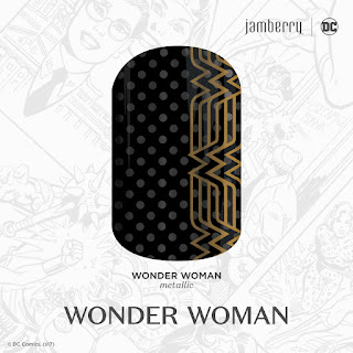 Embodying the WW motif of DC's greatest heroine, this black and gold design, 'Wonder Woman' is just what you need to unleash your superhuman powers. #WonderWomanJN  © DC Comics. (s17) Noel Giger Jamberry