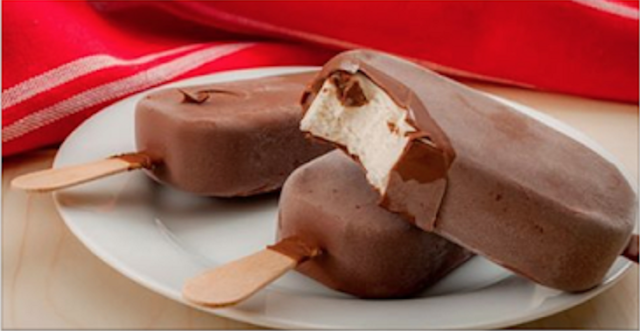 Paleta helada de chantillí