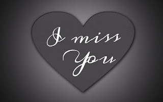 pic of i miss you grey heart with grey & black background
