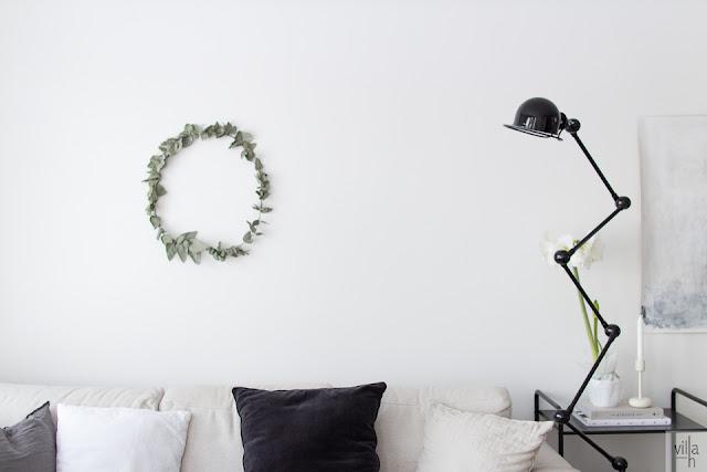 eukalyptus, kranssi, ideoita jouluun, joulu, interior