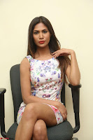 Nishi Ganda stunning cute in Flower Print short dress at Tick Tack Movie Press Meet March 2017 121.JPG