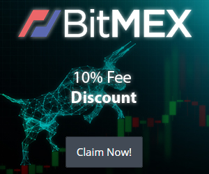 Trade cryptocurrency on Bitmex banner
