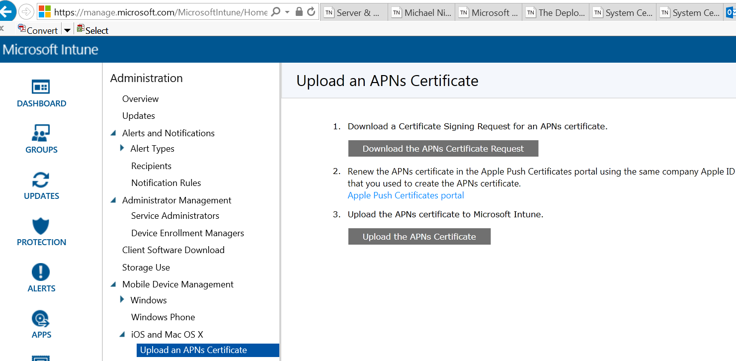 Configure intune standalone to manage ios devices netvnext blog uploading the apns certificate to intune 1betcityfo Image collections