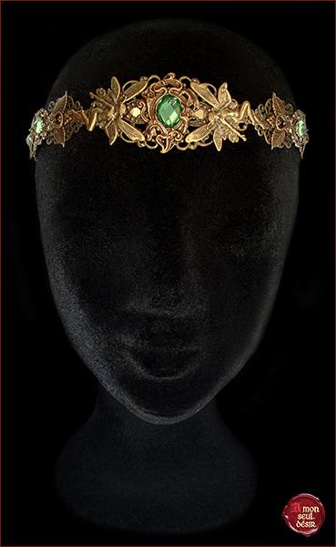 couronne fée féerique medievale renaissance tiare elfe elfique elven circlet fairy crown pixie elf medieval headdress