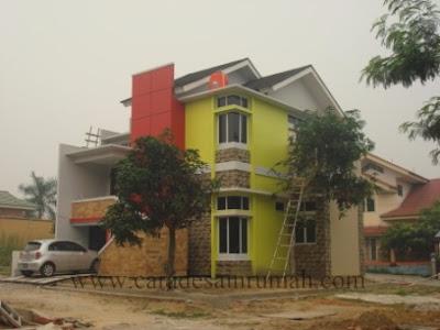 Rumah type 140 dalam tahap finishing
