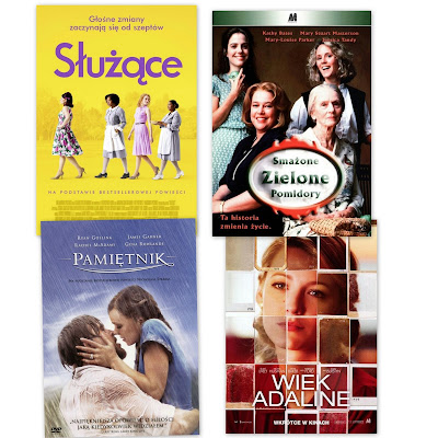moje filmowe top 20, czyli filmy na babski wieczór, które uwielbiam.