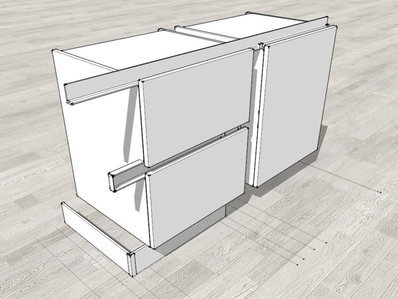 Arredare con sketchup sistema basi con gola - Comporre una cucina ...