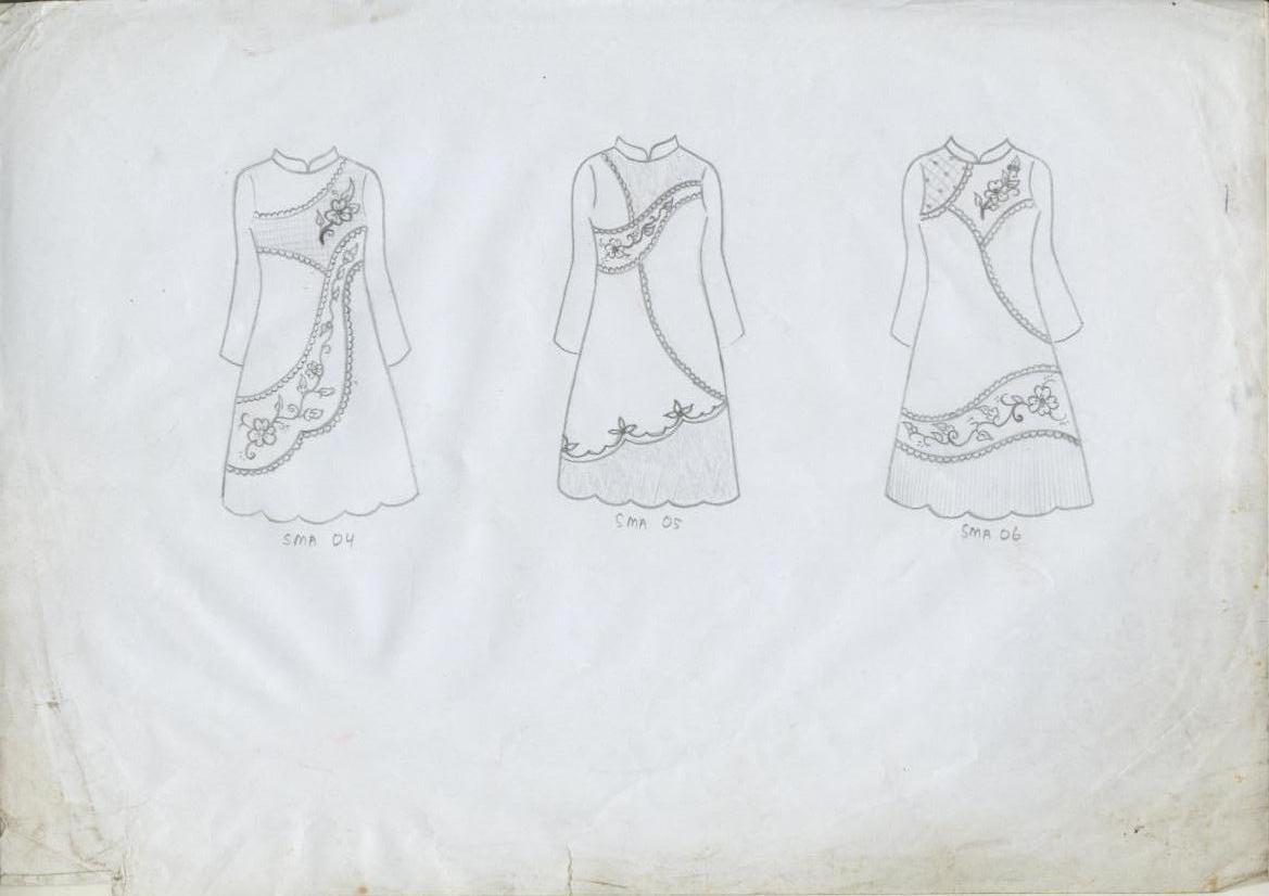 Kumpulan Gambar Sketsa Baju Perempuan