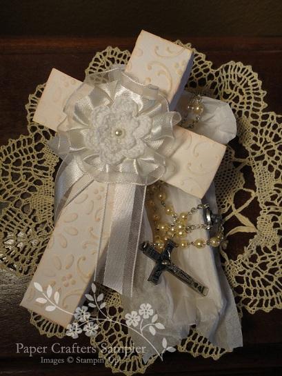 Pockets Of Inspiration Christening Cross Gift Box