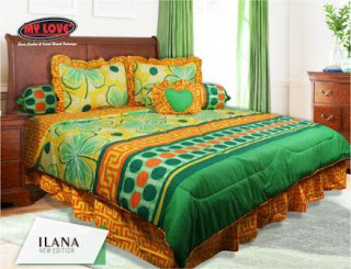 Sprei dan bed cover my love motif Ilana