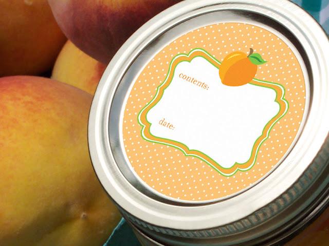 Cute Peach Apricot mason jar labels