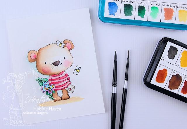 Heather's Hobbie Haven - Polkadoodles - Bella Bear Bouquet