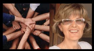 Banner. Un milagro para Uruguayita. Rostro de Uru junto a manos unidas