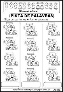 Formando palavras com a letra A