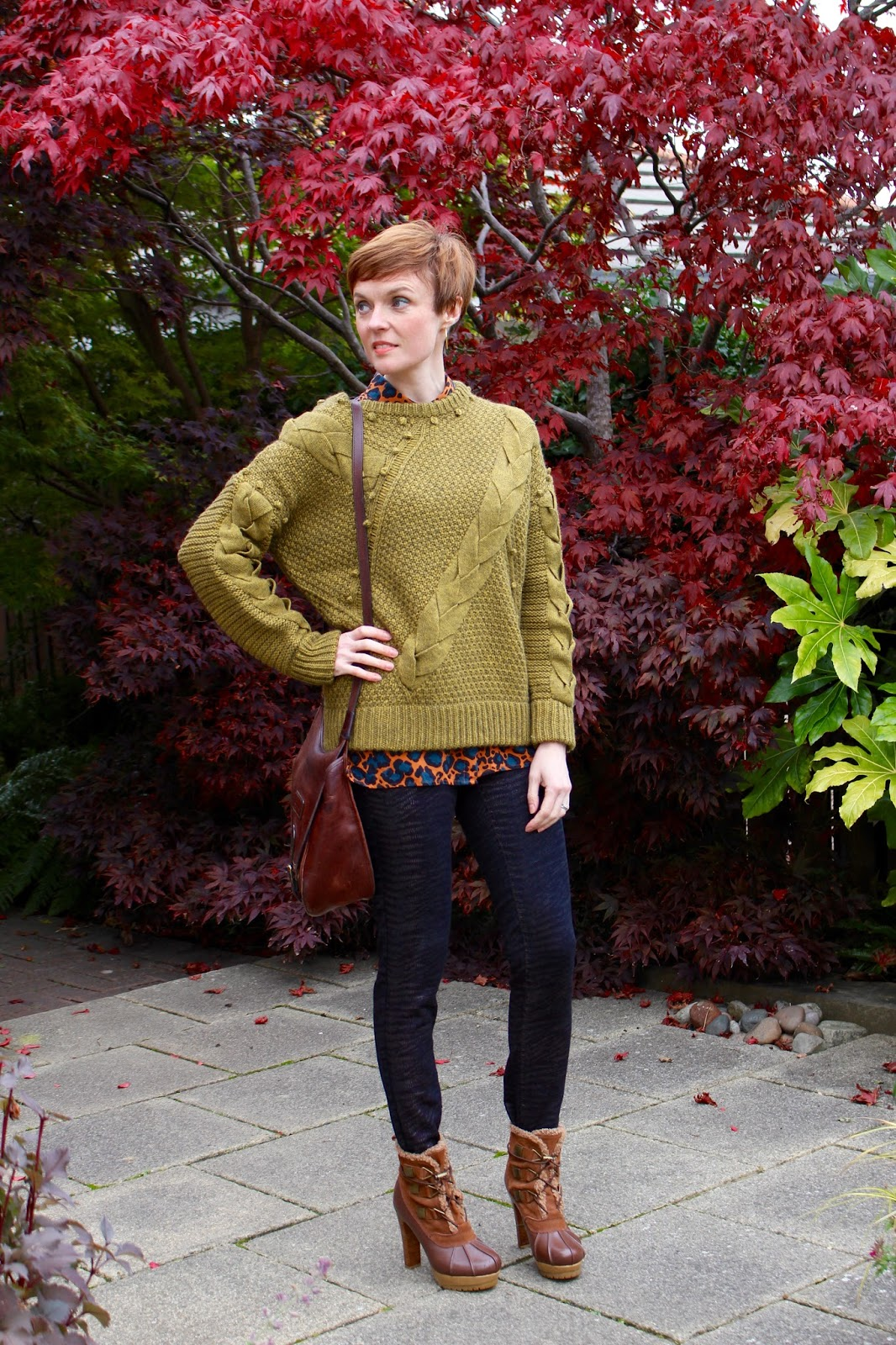 Chunky twisted cable knits, casual layers | Fake Fabulous