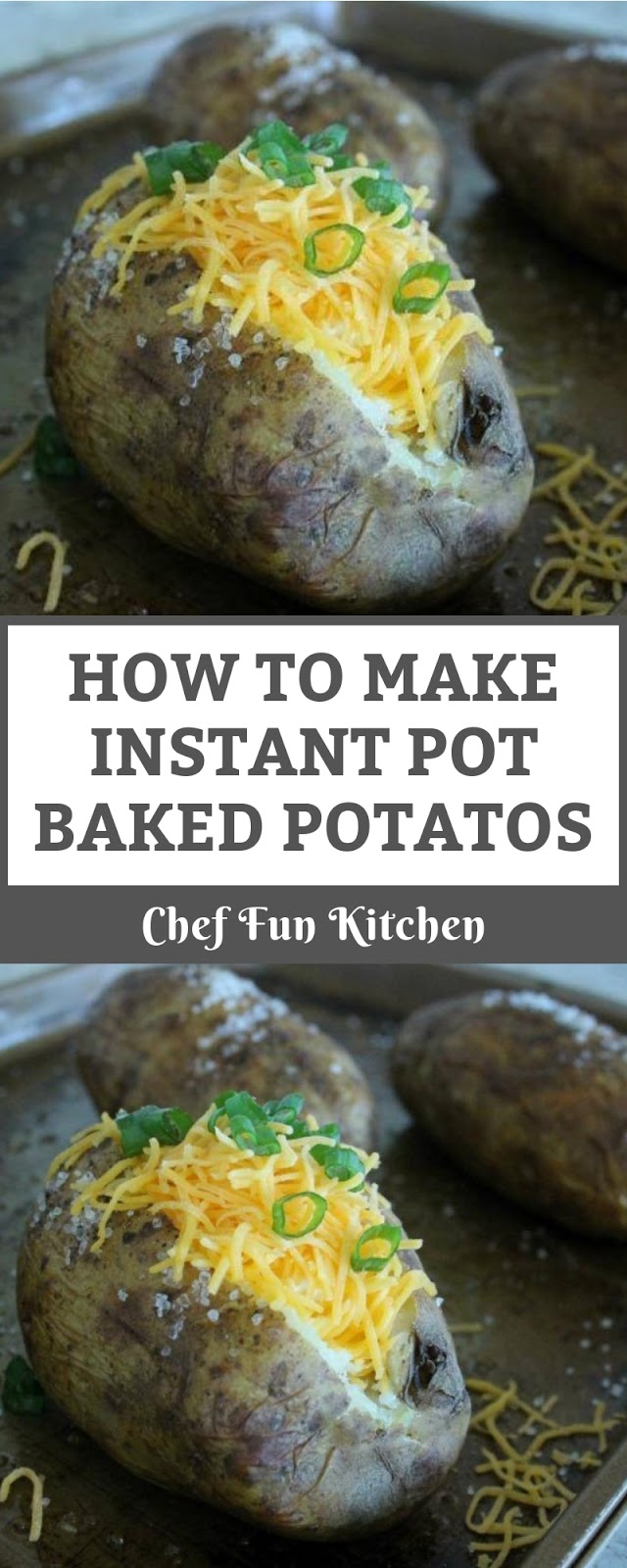 HOW TO MAKE INSTANT POT BAKED POTATOS