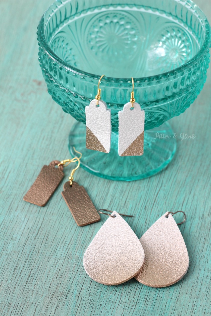 DIY Light Weight Leather Earrings